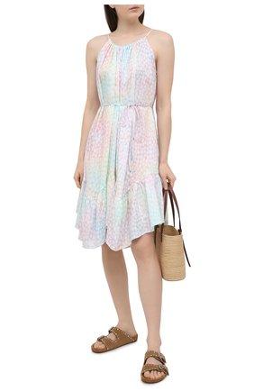 Женское хлопковое платье A MERE CO разноцветного цвета, арт. AMC-RSS21-322IR | Фото 2