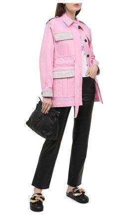 Женская хлопковая куртка MSGM светло-розового цвета, арт. 3041MDH01Y 217105 | Фото 2
