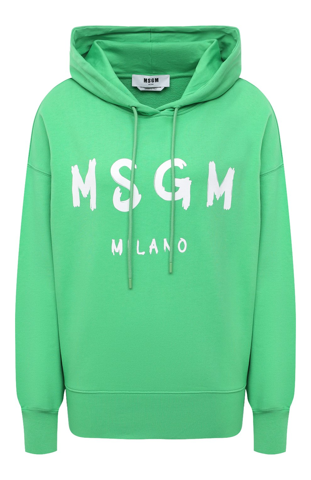 Женский хлопковое худи MSGM зеленого цвета, арт. 3041MDM88 217299 | Фото 1