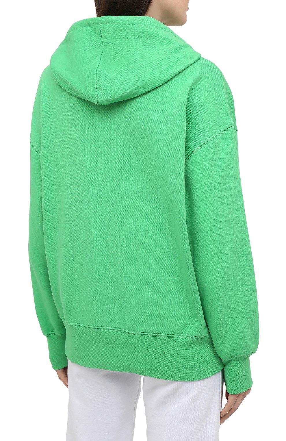 Женский хлопковое худи MSGM зеленого цвета, арт. 3041MDM88 217299 | Фото 4