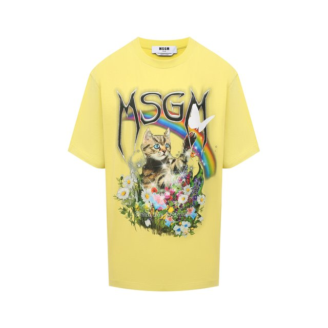Хлопковая футболка MSGM