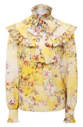 Женская блузка MSGM желтого цвета, арт. 3041MDM11 217152   Фото 1