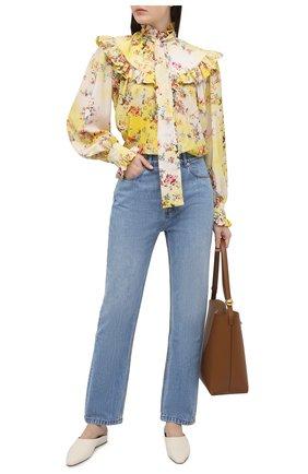 Женская блузка MSGM желтого цвета, арт. 3041MDM11 217152   Фото 2