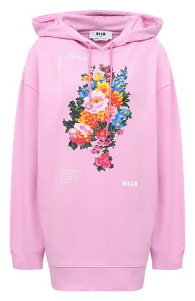 Женский хлопковое худи MSGM светло-розового цвета, арт. 3041MDM101 217299 | Фото 1