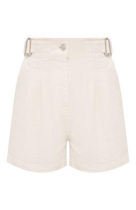Женские джинсовые шорты MSGM белого цвета, арт. 3041MDB42T 217279   Фото 1
