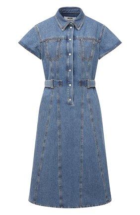 Женское джинсовое платье MSGM синего цвета, арт. 3041MDA40L 217280   Фото 1