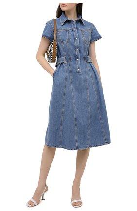 Женское джинсовое платье MSGM синего цвета, арт. 3041MDA40L 217280   Фото 2