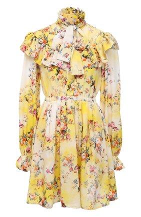 Женское платье MSGM желтого цвета, арт. 3041MDA20 217152   Фото 1