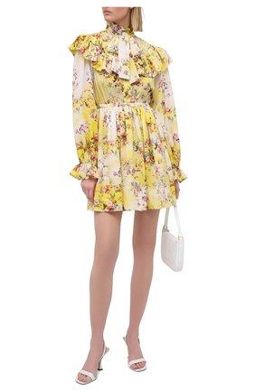 Женское платье MSGM желтого цвета, арт. 3041MDA20 217152   Фото 2