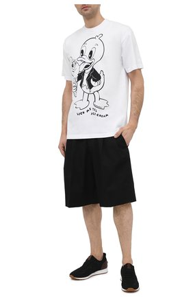 Мужская хлопковая футболка DOMREBEL белого цвета, арт. ICE CREAM/0VERSIZE T-SHIRT | Фото 2 (Принт: С принтом; Стили: Гранж; Рукава: Короткие; Материал внешний: Хлопок; Длина (для топов): Стандартные)