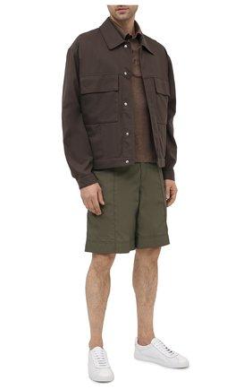 Мужские кожаные кеды DOUCAL'S белого цвета, арт. DU2650MANAPZ118IW00 | Фото 2