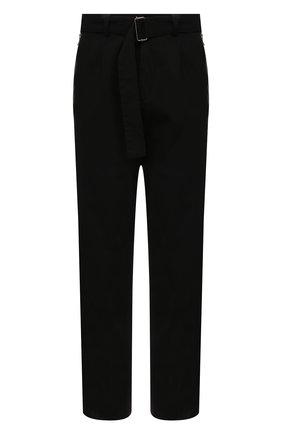 Мужские хлопковые брюки DRIES VAN NOTEN черного цвета, арт. 211-20934-2280 | Фото 1