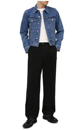 Мужские хлопковые брюки DRIES VAN NOTEN черного цвета, арт. 211-20934-2280 | Фото 2
