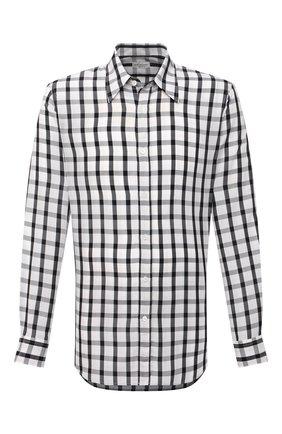 Мужская рубашка DRIES VAN NOTEN черно-белого цвета, арт. 211-20705-2308 | Фото 1