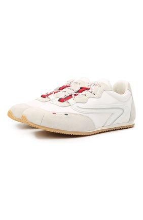Мужские кроссовки seventy 2 moncler 1952 MONCLER GENIUS белого цвета, арт. G1-092-4M703-00-02SMZ | Фото 1 (Материал внутренний: Текстиль; Стили: Гранж; Подошва: Плоская)