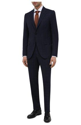 Мужские кожаные дерби PANTANETTI черного цвета, арт. 14501E/CAN0LE   Фото 2