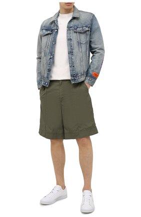 Мужские кожаные кеды KENZO белого цвета, арт. FB55SN129L71 | Фото 2
