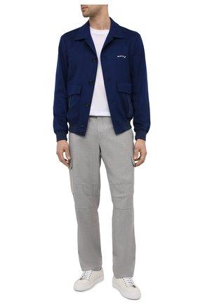 Мужские кожаные кеды BRIONI белого цвета, арт. QHH40L/P7731 | Фото 2