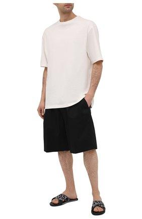 Мужские текстильные шлепанцы bonks BALLY черного цвета, арт. B0NKS-T/200 | Фото 2 (Материал внешний: Текстиль; Материал внутренний: Натуральная кожа)