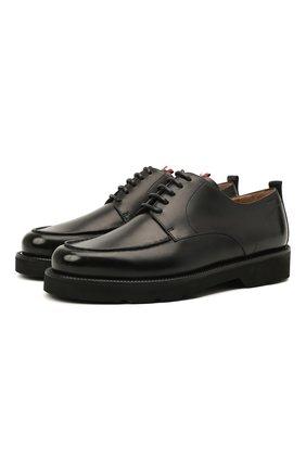 Мужские кожаные дерби norber BALLY черного цвета, арт. N0RBER/50 | Фото 1 (Материал внутренний: Натуральная кожа; Стили: Классический)