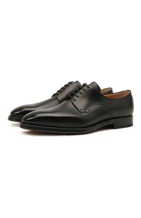 Мужские кожаные дерби scamardo BALLY черного цвета, арт. SCAMARD0/600 | Фото 1 (Материал внутренний: Натуральная кожа; Стили: Классический)