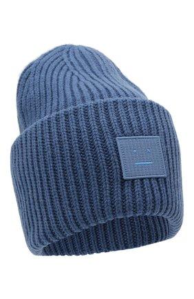 Мужская шерстяная шапка ACNE STUDIOS голубого цвета, арт. C40140/M | Фото 1