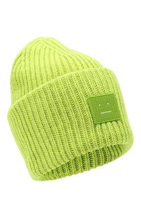 Мужская шерстяная шапка ACNE STUDIOS салатового цвета, арт. C40140/M | Фото 1
