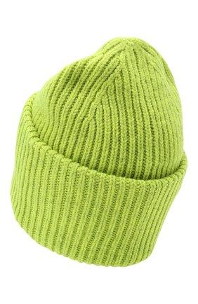 Мужская шерстяная шапка ACNE STUDIOS салатового цвета, арт. C40140/M | Фото 2