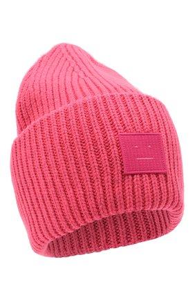 Мужская шерстяная шапка ACNE STUDIOS розового цвета, арт. C40140/M | Фото 1