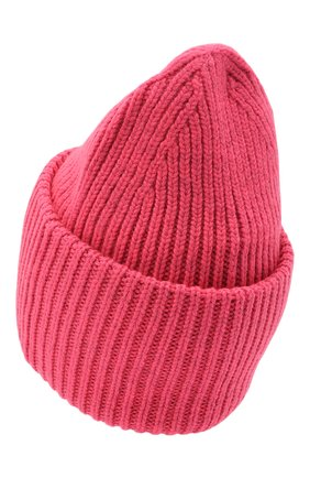 Мужская шерстяная шапка ACNE STUDIOS розового цвета, арт. C40140/M | Фото 2