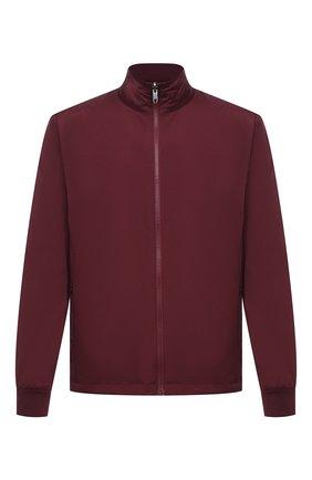Мужская куртка Z ZEGNA бордового цвета, арт. VW044/ZZT052 | Фото 1 (Стили: Кэжуэл; Материал утеплителя: Шерсть; Кросс-КТ: Ветровка, Куртка; Длина (верхняя одежда): Короткие; Материал внешний: Синтетический материал; Рукава: Длинные)