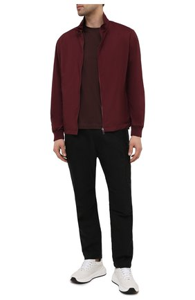 Мужская куртка Z ZEGNA бордового цвета, арт. VW044/ZZT052 | Фото 2 (Стили: Кэжуэл; Материал утеплителя: Шерсть; Кросс-КТ: Ветровка, Куртка; Длина (верхняя одежда): Короткие; Материал внешний: Синтетический материал; Рукава: Длинные)
