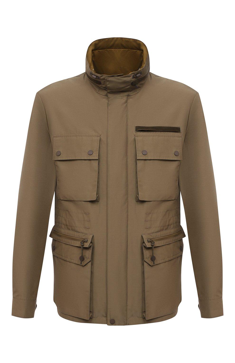 Мужская куртка ERMENEGILDO ZEGNA хаки цвета, арт. UWT10/W206P   Фото 1
