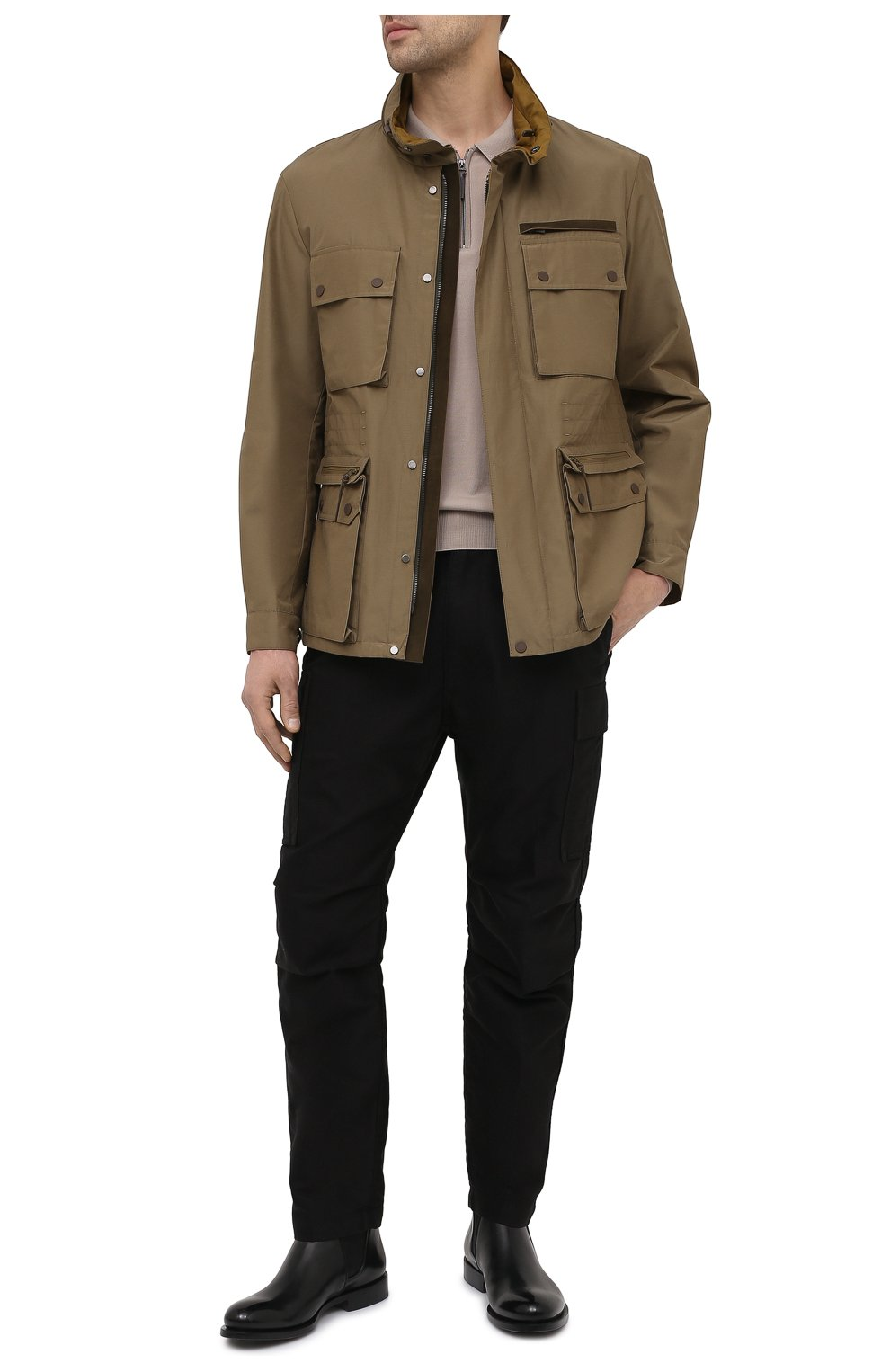 Мужская куртка ERMENEGILDO ZEGNA хаки цвета, арт. UWT10/W206P   Фото 2