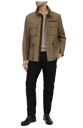 Мужская куртка ERMENEGILDO ZEGNA хаки цвета, арт. UWT10/W206P | Фото 2
