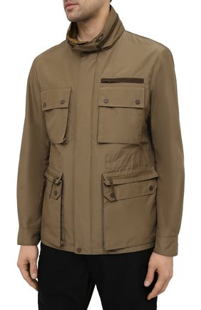 Мужская куртка ERMENEGILDO ZEGNA хаки цвета, арт. UWT10/W206P   Фото 3