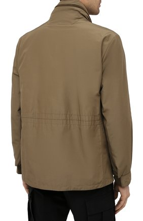 Мужская куртка ERMENEGILDO ZEGNA хаки цвета, арт. UWT10/W206P   Фото 4