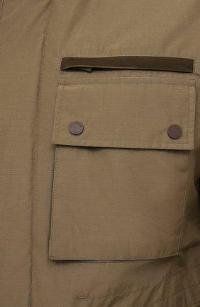 Мужская куртка ERMENEGILDO ZEGNA хаки цвета, арт. UWT10/W206P   Фото 5