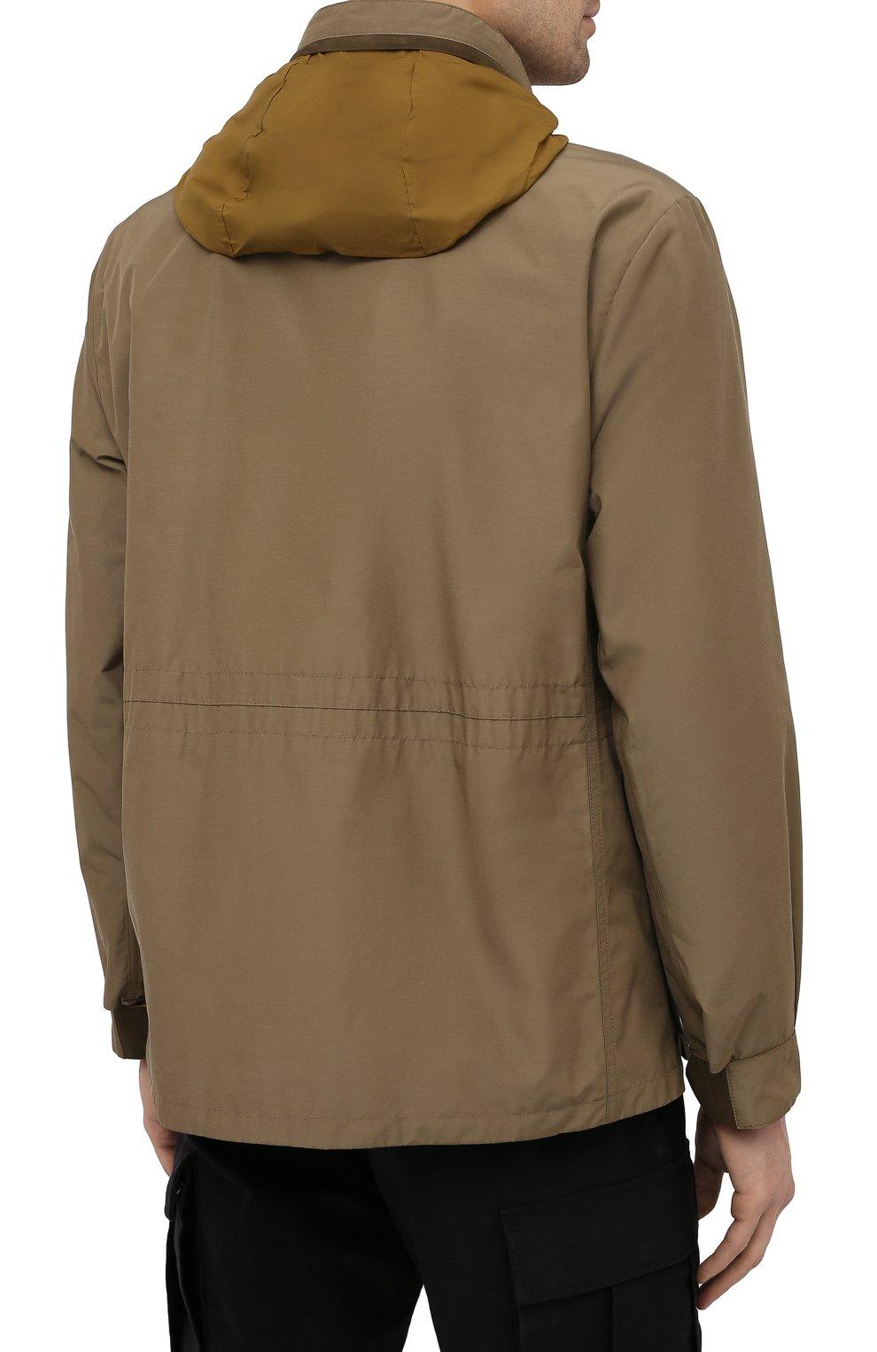 Мужская куртка ERMENEGILDO ZEGNA хаки цвета, арт. UWT10/W206P   Фото 6