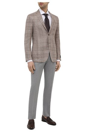 Мужской пиджак изо льна и шелка Z ZEGNA бежевого цвета, арт. 950708/1D7SG0 | Фото 2