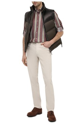 Мужские джинсы Z ZEGNA кремвого цвета, арт. VW758/ZZ530 | Фото 2 (Длина (брюки, джинсы): Стандартные; Случай: Повседневный; Стили: Кэжуэл; Материал внешний: Хлопок; Силуэт М (брюки): Прямые; Кросс-КТ: Деним)