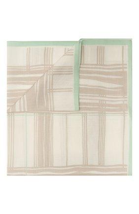 Мужской платок из хлопка и шелка ERMENEGILDO ZEGNA бежевого цвета, арт. Z9J27/37A | Фото 1