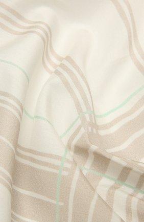 Мужской платок из хлопка и шелка ERMENEGILDO ZEGNA бежевого цвета, арт. Z9J27/37A | Фото 2