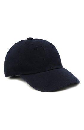 Мужской хлопковая бейсболка ZEGNA COUTURE темно-синего цвета, арт. Z9I53/B9N | Фото 1
