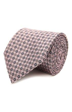 Мужской шелковый галстук ERMENEGILDO ZEGNA розового цвета, арт. Z9D43/100 | Фото 1