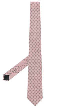 Мужской шелковый галстук ERMENEGILDO ZEGNA розового цвета, арт. Z9D43/100 | Фото 2