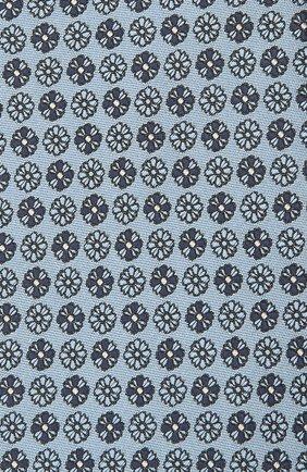 Мужской шелковый галстук ERMENEGILDO ZEGNA голубого цвета, арт. Z9D41/100   Фото 3 (Принт: С принтом; Материал: Текстиль, Шелк)