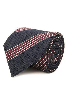 Мужской шелковый галстук ZEGNA COUTURE синего цвета, арт. Z9C02/15C   Фото 1 (Материал: Шелк, Текстиль; Принт: С принтом)