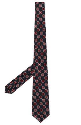 Мужской шелковый галстук ZEGNA COUTURE синего цвета, арт. Z9C02/15C   Фото 2 (Материал: Шелк, Текстиль; Принт: С принтом)