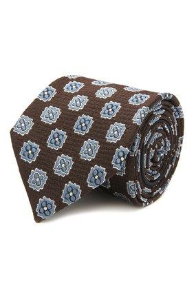 Мужской шелковый галстук ZEGNA COUTURE коричневого цвета, арт. Z9C00/15C | Фото 1